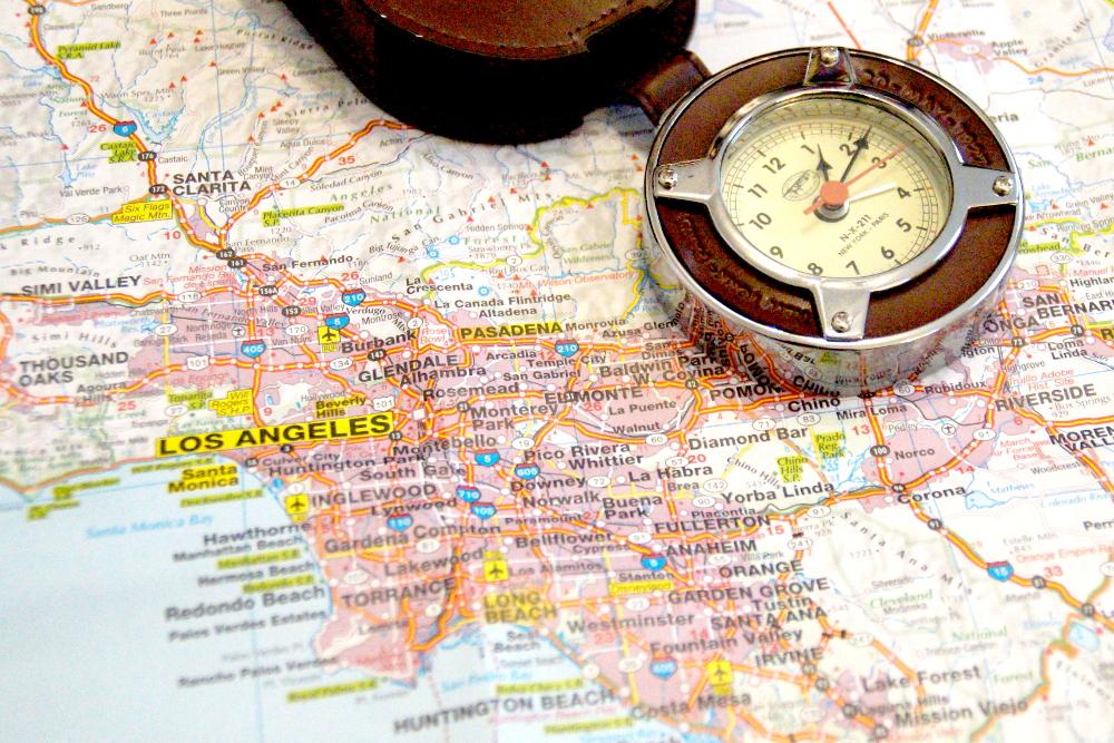 Los Angeles Karte