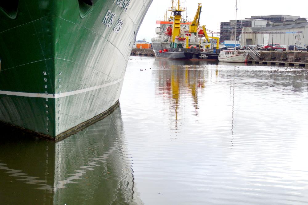 Blick auf den Hafen von Bremerhaven.