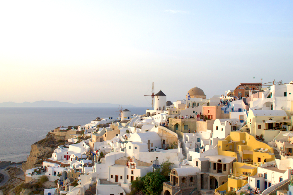 City Oia on Santorini Island.