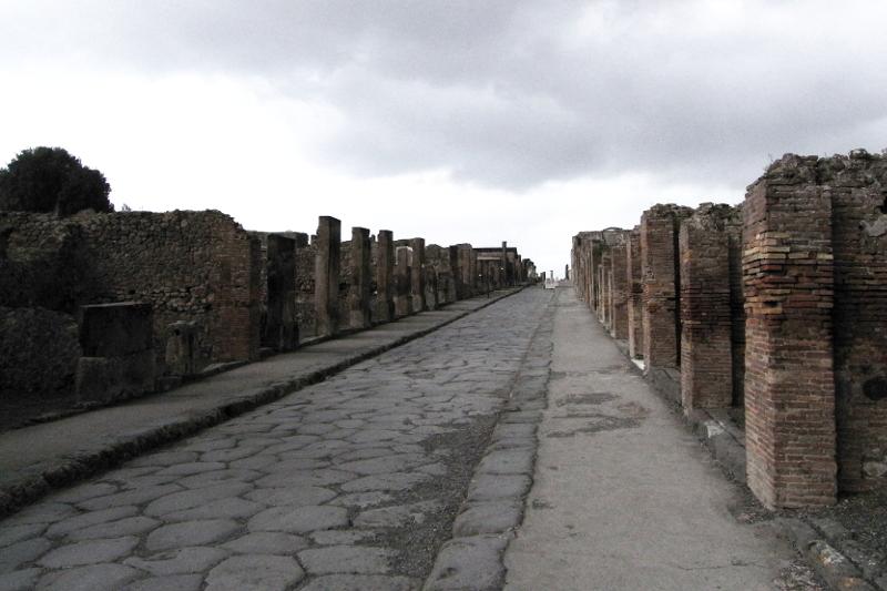 Pompeji zerstörte Stadt