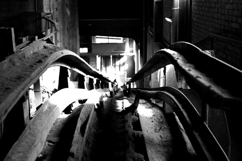 Zeche Zollverein schwarz weiß