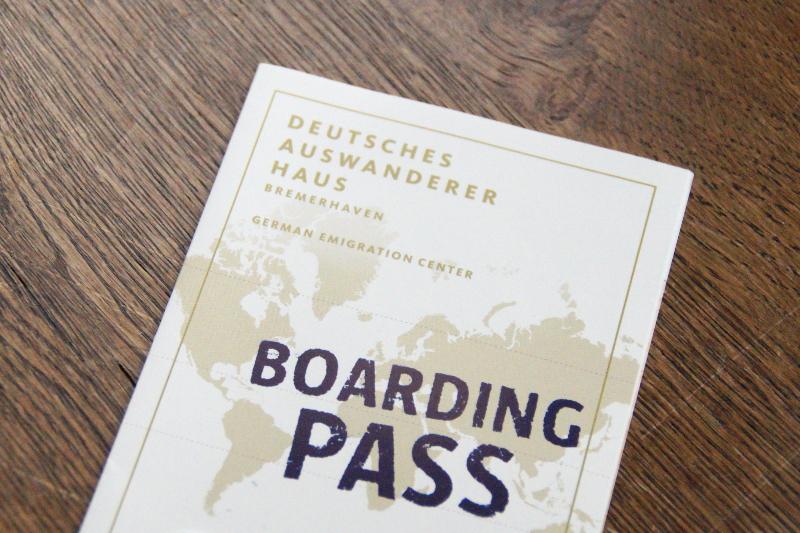 Boarding Pass Auswandererhaus Bremerhaven