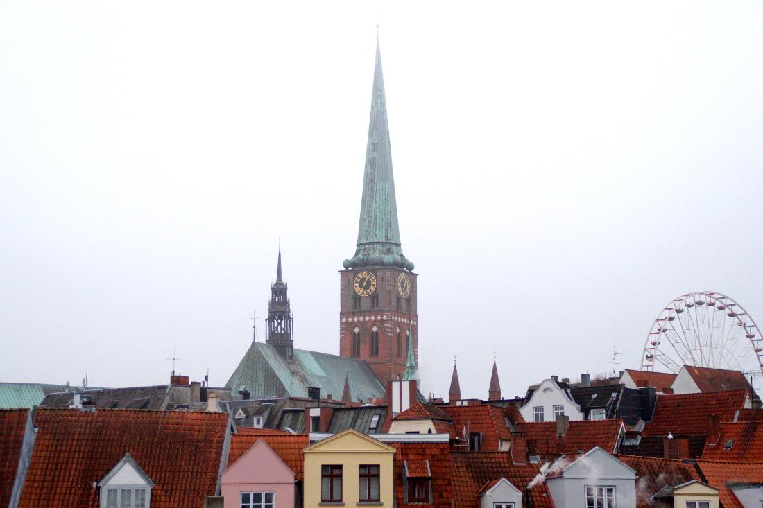 Blick auf die Hansestadt Lübeck.