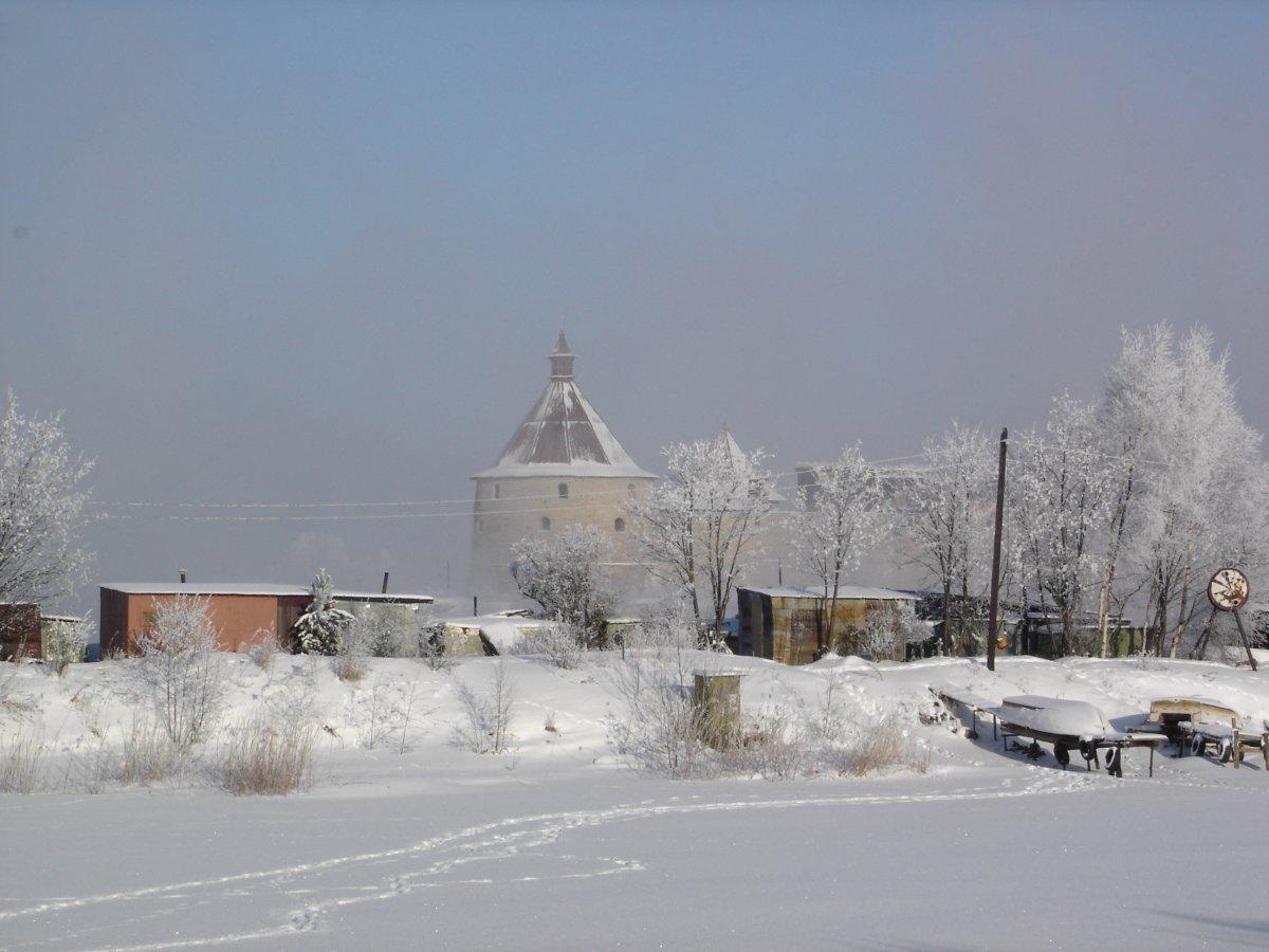 Schlisselburg vor den toren der Stadt an einem kalten Februartag
