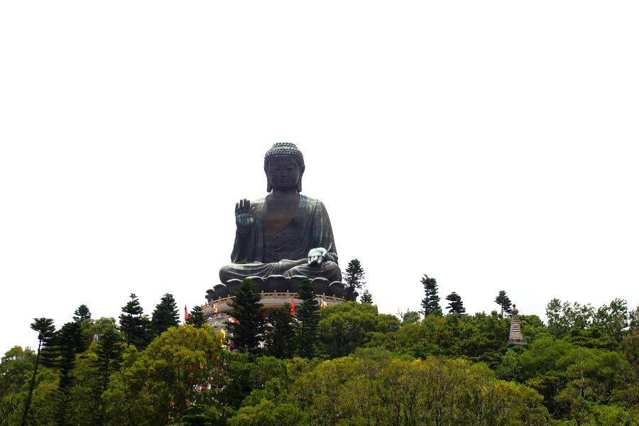 Big Buddha Tian Tan Buddha Lantau Island Hongkong