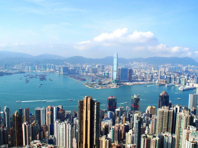 Victoria Peak Hongkong view