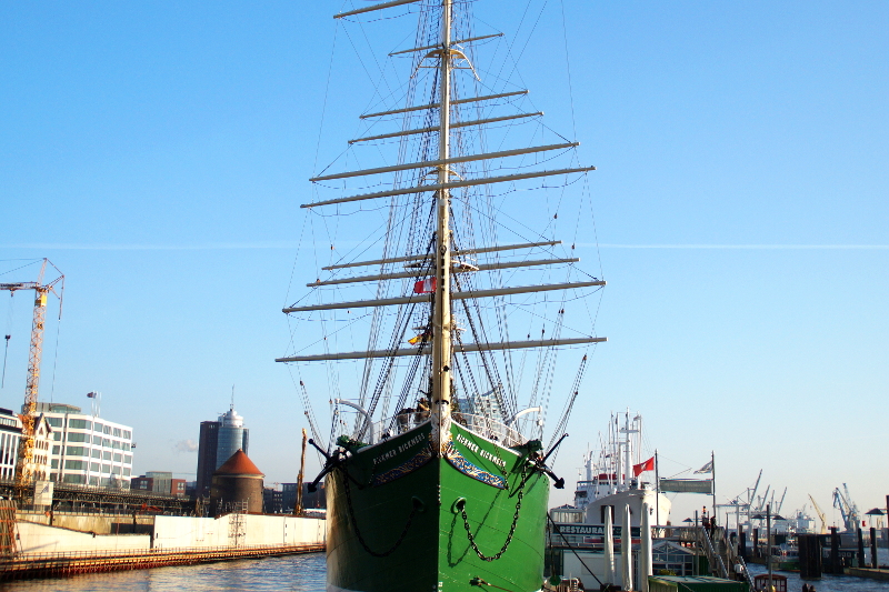 Hamburg Winter Rickmer Rickmers