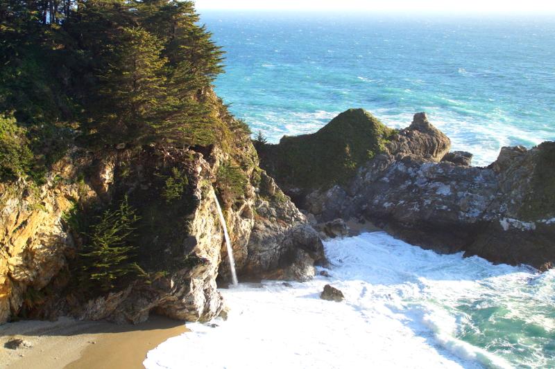 schönsten Nationalparks an der US-Westküste Julia Pfeiffer Burns Park Highway 1 Pacific Coast Highway