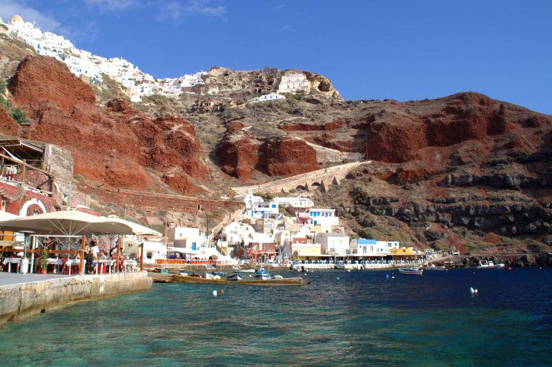 Amoudi Bay Santorini Greece