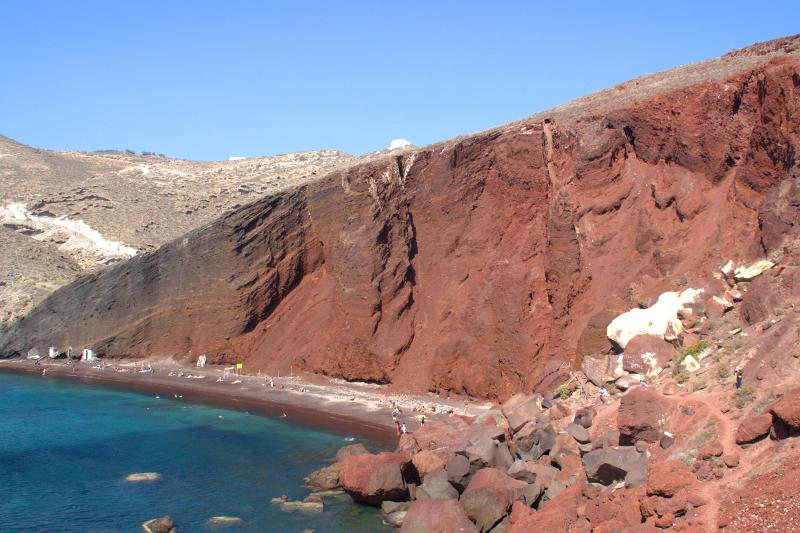 Santorins schönste Strände Red Beach Santorini Greece