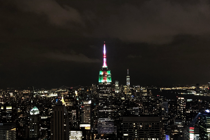 Rockefeller Center New York by Night