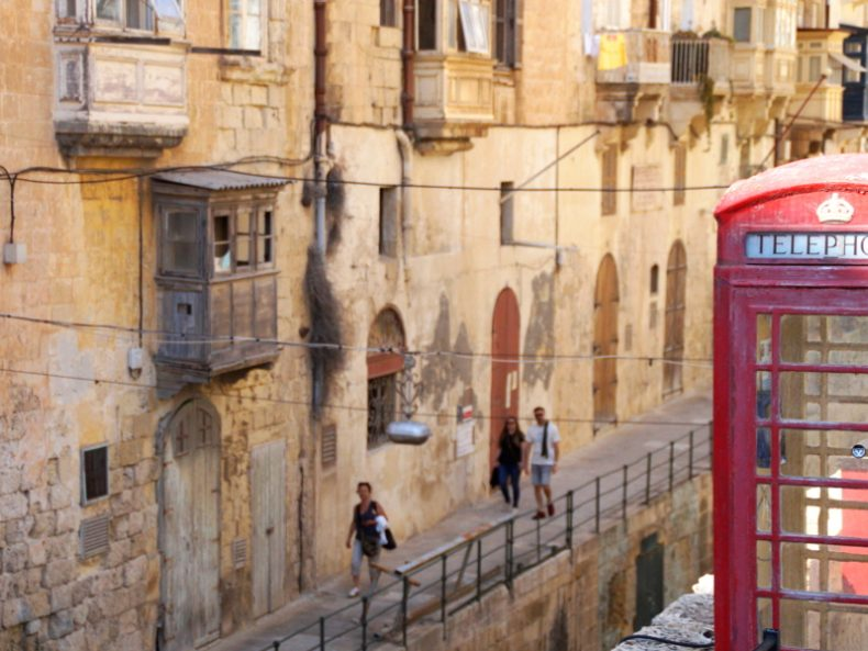 Streets of Valletta Malta Titel