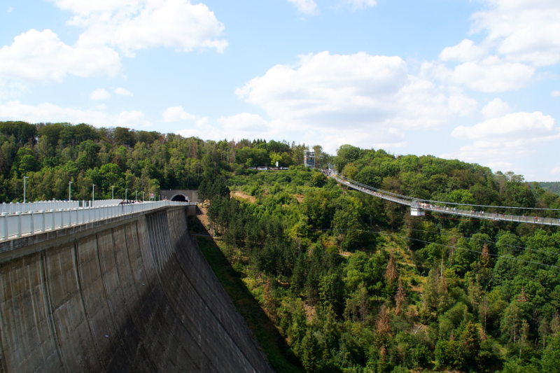 Rappbodetalsperre Harzdrenalin Titan Hängebrücke Harz