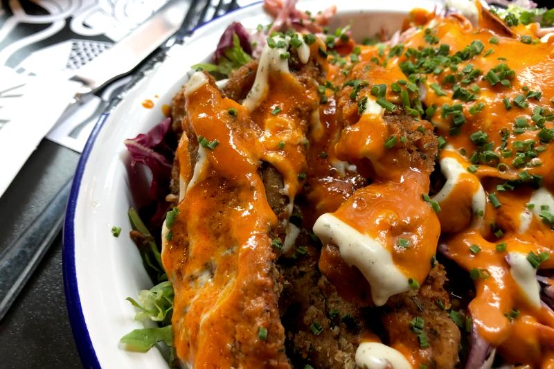 Manchester vegetarisch V Rev Vegan Diner Manchester UK