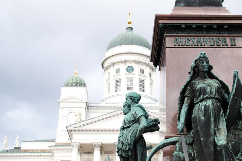 Helsinki Dom Helsinki an einem Tag