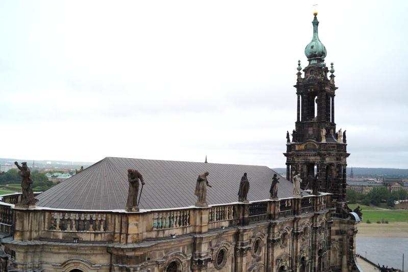 Burgen Roadtrip Sachsen Blick von Residenzschloss Dresden
