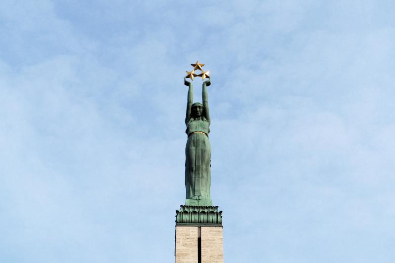 Freiheitsdenkmal Riga Lettland Latvia