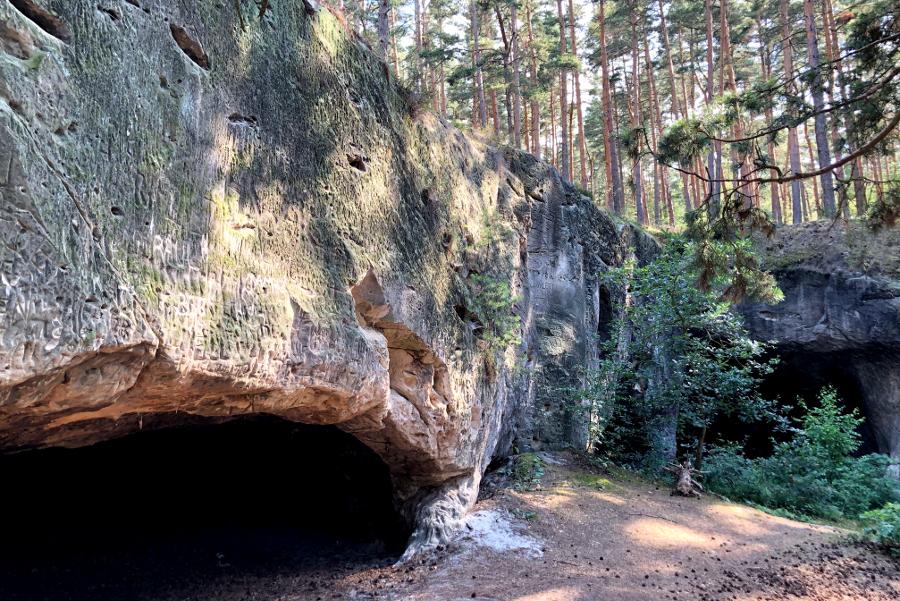 Harz entdecken: Sandhöhlen im Heers Harz